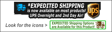 Fast Expedited Overnight and 2-Day Shipping Available