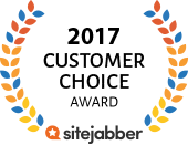 SiteJabber Customer Choice Award