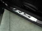2010 2011 2012 2013 2014 2015 Camaro Doorsills 'RS' 2pc Brushed/Polished Carbon Fiber #101002 By American Car Craft