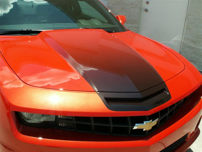 camaro cowl hood fade graphic 102024 by american car. Black Bedroom Furniture Sets. Home Design Ideas