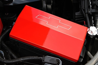 2010 2013 camaro fuse box cover 39 bowtie 39 by billet custom. Black Bedroom Furniture Sets. Home Design Ideas
