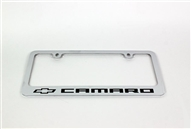 2010-2015 Camaro License Plate Frame Chrome Bowtie