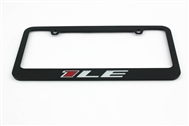 Camaro 1LE License Plate Frame Chrome Glossy Black 2013-2015