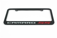 Camaro SS License Plate Frame Chrome Glossy Black 2010-2015