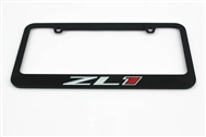 Camaro ZL1 License Plate Frame Chrome Glossy Black 2012-2015