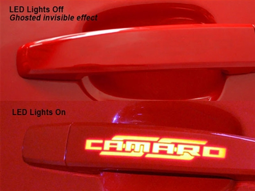 2010 2011 2012 Camaro Parts Custom LED Ghosted Door Handles Phastek