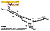 "2010 2011 2012 2013 3"" Cat-Back Exhaust - Competition Series (No Mufflers) - 4"" Tips"