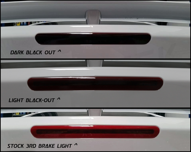 2016-2017 Camaro Brake Light Blackout Kit Trunk 3rd light