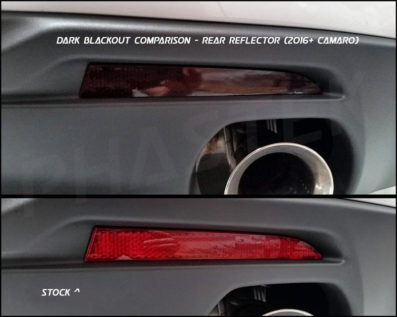 2016-2017 Camaro Rear Reflector Light Blackout Kit