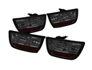 2010 2011 2012 2013 Camaro Smoked LED Tail Lights (Black) #ALT-YD-CCAM2010-LED-SM by Spyder