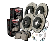 2010 2011 2012 2013 Camaro SS Cross Drilled and Slotted Sport Kit (Rotors, lines, and pads) #978.62001 by StopTech