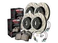 2010 2011 2012 2013 Camaro SS Cross Drilled Sport Kit (Rotors, lines, and pads) #979.62001 by StopTech