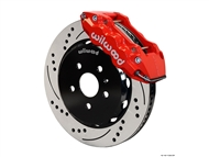 Wilwood W6A Front Big Brake Kit (6 piston, Drilled and Slotted, red caliper) #140-11269-DR :: 2010-2013 Camaro SS