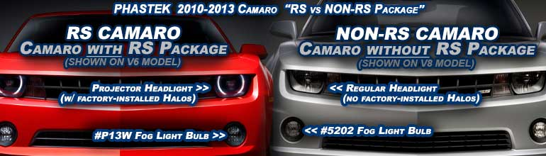 RS vs NON RS 2010 2011 2012 2013 Camaro