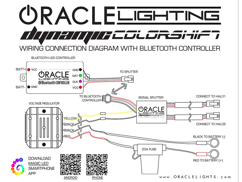 halo lights wiring diagram light bulb oracle dynamic colorshift headlight halo kit 2010-2013 camaro