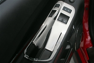 2012 2013 2014 2015 Camaro Door Handle Pull/Switch Deluxe Trim Plate 2Pc Brushed #101021 By American Car Craft