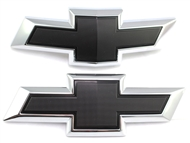 2016 Camaro 23358104 Black Chevy Bowtie Replacements 2017 (Front & Rear)