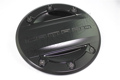 2016 2019 Camaro Custom Fuel Door Gm Black