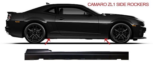 ZL1 Side Rockers from GM for 2010-2015 Camaro (all models: SS/LS/LT/RS)