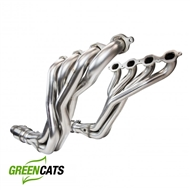 "Kooks 2260H430 2016-2017 Camaro 1-7/8"" Long Tube Headers with GREEN Cat Pipes"