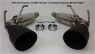 2010 2011 2012 2013 2014 2015 Camaro Axle Back Exhaust Version 1.0 #91A176-BLK by MRT