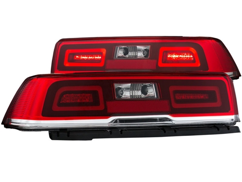 2014 2015 Non Rs Camaro L E D Tailights With Red Lens And