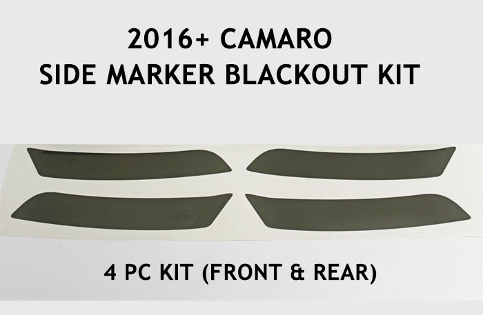 2016-2017 camaro side marker blackout kit before and after picture