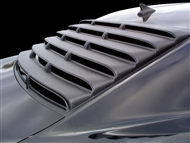 Camaro Willpak Rear Window Louver in Black Aluminum - fits all 2010, 2011, 2012, 2013 2014 2015 Camaro Coupe models